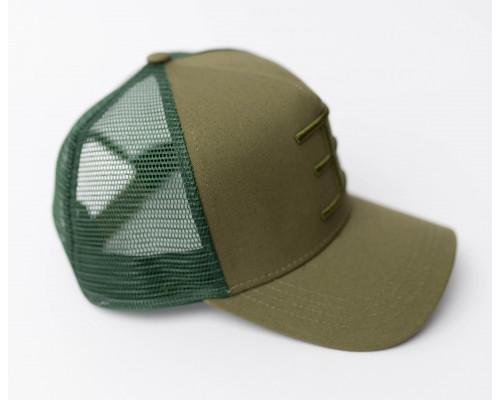 TWIN COLOR Trucker Khaki/Green
