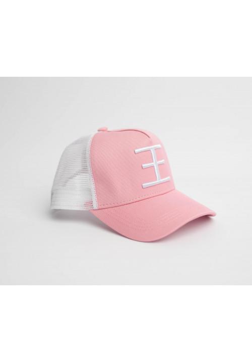 WHITE MESH Trucker Pink